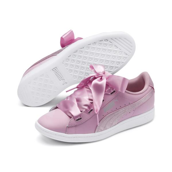 PUMA Vikky Ribbon Satin Sneakers JR, Pale Pink-Pale Pink, large