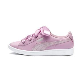 Thumbnail 1 of PUMA Vikky Ribbon Satin Sneakers JR, Pale Pink-Pale Pink, medium