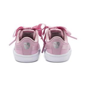 Thumbnail 3 of PUMA Vikky Ribbon Satin AC Sneakers PS, Pale Pink-Pale Pink, medium