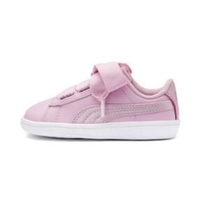 Thumbnail 1 of PUMA Vikky Ribbon Satin AC Sneakers PS, Pale Pink-Pale Pink, medium
