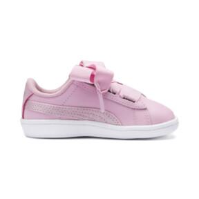 Thumbnail 5 of PUMA Vikky Ribbon Satin AC Sneakers PS, Pale Pink-Pale Pink, medium