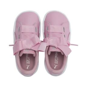 Thumbnail 6 of PUMA Vikky Ribbon Satin AC Sneakers PS, Pale Pink-Pale Pink, medium