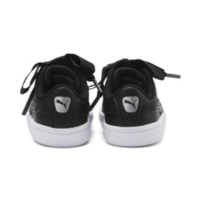 Miniatura 3 de ZapatosPUMA Vikky Ribbon Satin AC para niños, Puma Black-Puma Silver-White, mediano