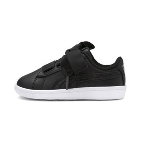 Miniatura 1 de ZapatosPUMA Vikky Ribbon Satin AC para niños, Puma Black-Puma Silver-White, mediano