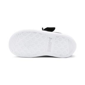 Miniatura 4 de ZapatosPUMA Vikky Ribbon Satin AC para niños, Puma Black-Puma Silver-White, mediano