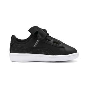 Miniatura 5 de ZapatosPUMA Vikky Ribbon Satin AC para niños, Puma Black-Puma Silver-White, mediano