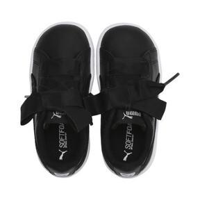 Miniatura 6 de ZapatosPUMA Vikky Ribbon Satin AC para niños, Puma Black-Puma Silver-White, mediano