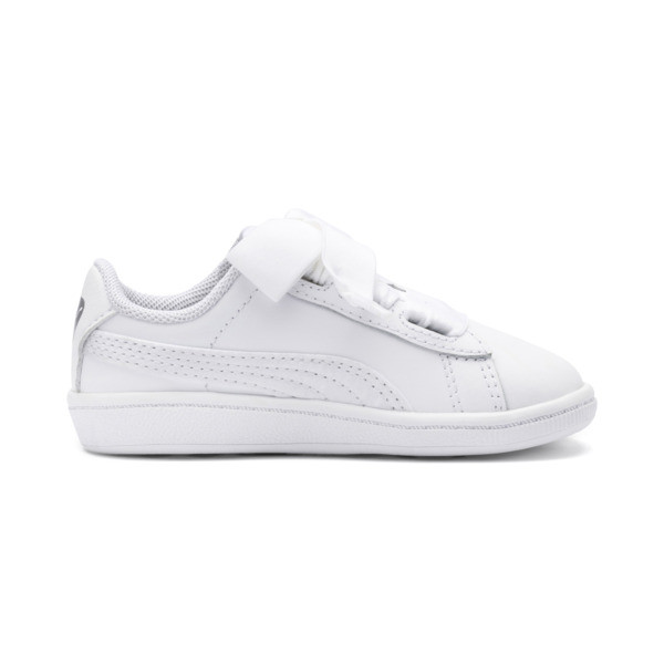 Vikky Ribbon Baby Girls' Trainers, Puma White-Puma White, large
