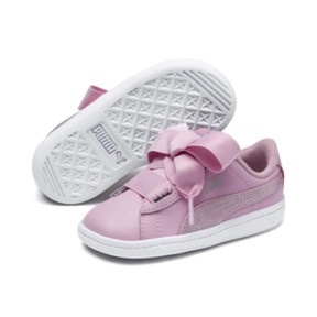 Thumbnail 2 of PUMA Vikky Ribbon Satin AC Sneakers INF, Pale Pink-Pale Pink, medium