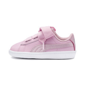 Thumbnail 1 of PUMA Vikky Ribbon Satin AC Sneakers INF, Pale Pink-Pale Pink, medium