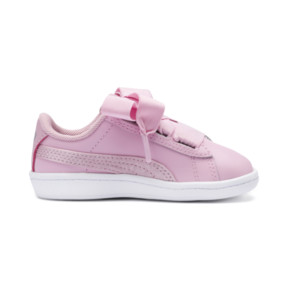 Thumbnail 5 of PUMA Vikky Ribbon Satin AC Sneakers INF, Pale Pink-Pale Pink, medium