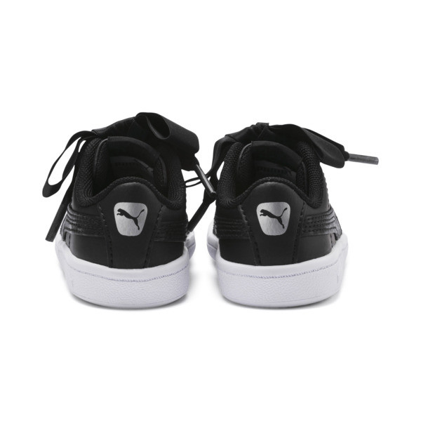 Vikky Ribbon Baby Girls' Trainers, Puma Black-Puma Silver-White, large