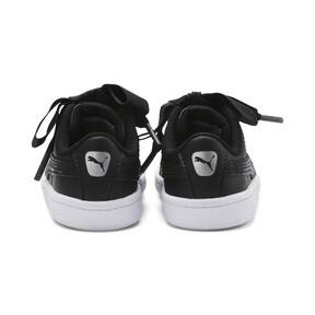 Miniatura 3 de ZapatosPUMA Vikky Ribbon Satin AC para bebés, Puma Black-Puma Silver-White, mediano