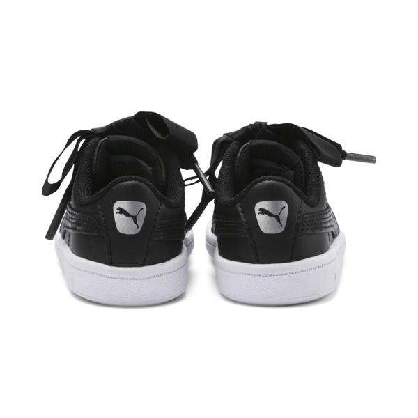 ZapatosPUMA Vikky Ribbon Satin AC para bebés, Puma Black-Puma Silver-White, grande