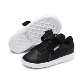 Miniatura 2 de ZapatosPUMA Vikky Ribbon Satin AC para bebés, Puma Black-Puma Silver-White, mediano