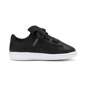 Miniatura 5 de ZapatosPUMA Vikky Ribbon Satin AC para bebés, Puma Black-Puma Silver-White, mediano