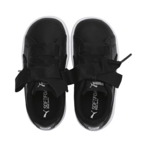 Miniatura 6 de ZapatosPUMA Vikky Ribbon Satin AC para bebés, Puma Black-Puma Silver-White, mediano