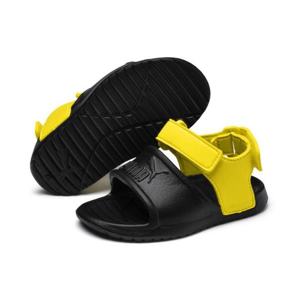 Divecat v2 Injex Babies' Sandals, Puma Black-Blazing Yellow, large