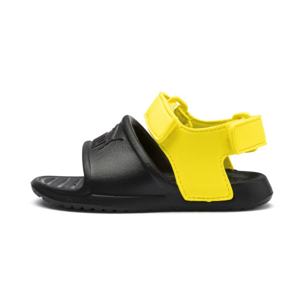 499425a8a Sandały dziecięce Divecat v2 Injex, Puma Black-Blazing Yellow, obszerny