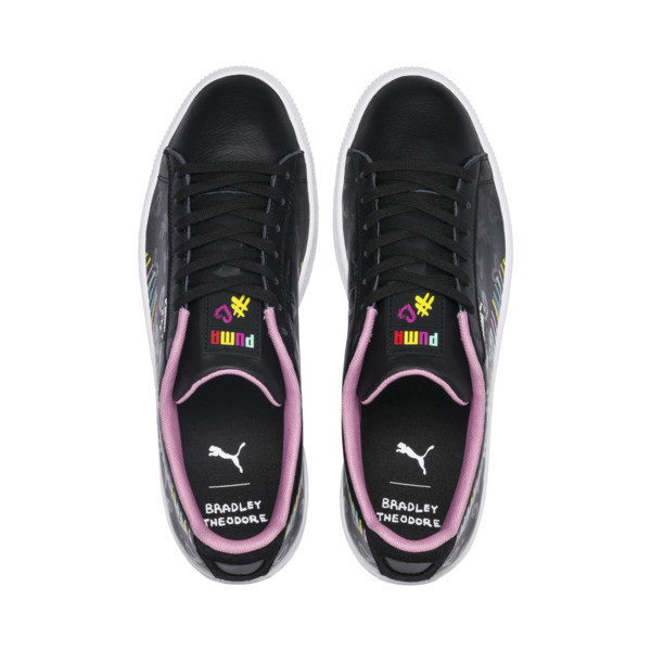 PUMA x BRADLEY THEODORE Clyde Trainers, Puma Black-PRISM PINK, large