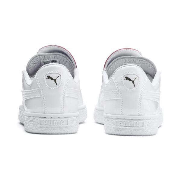 Basket Crush Women's Sneakers, Puma White-Hibiscus, large
