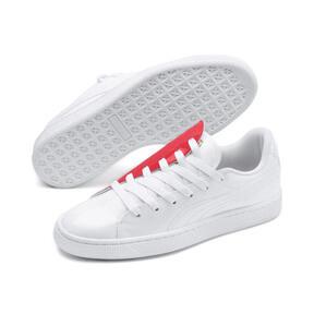 Thumbnail 8 of Basket Crush Women's Sneakers, Puma White-Hibiscus, medium