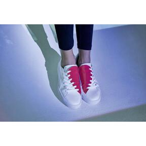Thumbnail 9 of Basket Crush Women's Sneakers, Puma White-Hibiscus, medium