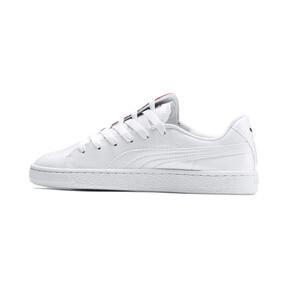 Thumbnail 1 of Basket Crush Women's Sneakers, Puma White-Hibiscus, medium