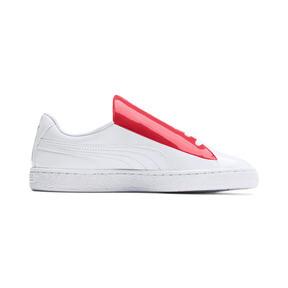 Thumbnail 6 of Basket Crush Women's Sneakers, Puma White-Hibiscus, medium