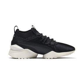 Thumbnail 6 of Muse Maia Knit Premium Women's Trainers, Puma Black-Whisper White, medium