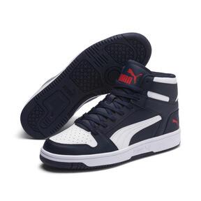 Thumbnail 1 of PUMA Rebound LayUp Sneakers, Peacoat-Puma White-Red, medium