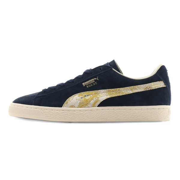 Suede MIJ Sneakers, Peacoat-Puma Team Gold, large