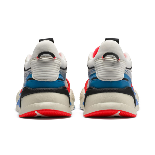 RS-X Reinvention Trainers, Whisper White-Red Blast, large