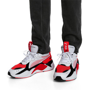 Thumbnail 7 of RS-X Reinvention Men's Sneakers, Puma White-Red Blast, medium
