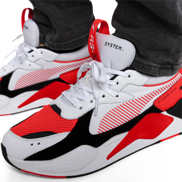 RS-X Reinvention Trainers, Puma White-Red Blast, large
