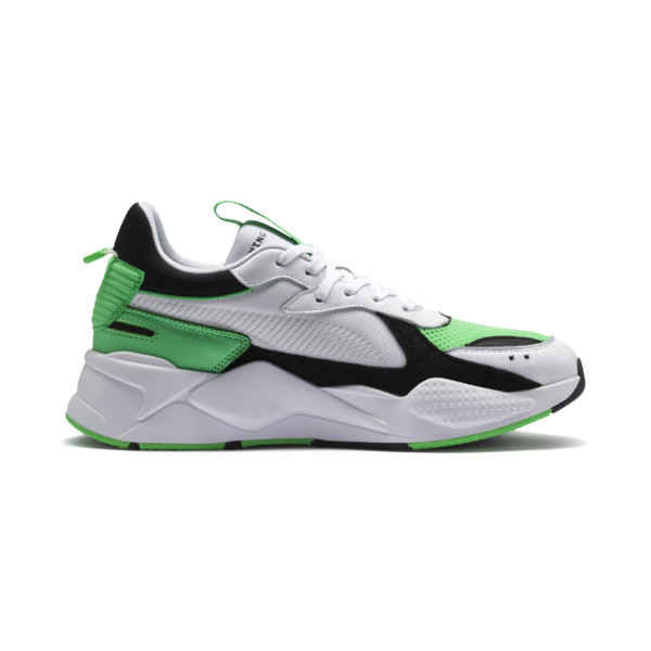RS-X Reinvention Men's Sneakers, Puma White-Irish Green, large