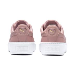 Thumbnail 4 of Suede Platform Shimmer Women's Sneakers, Bridal Rose-Puma White, medium