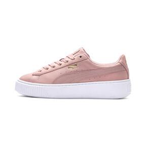 Thumbnail 1 of Suede Platform Shimmer Women's Sneakers, Bridal Rose-Puma White, medium
