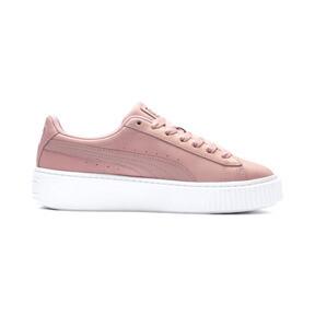 Thumbnail 6 of Suede Platform Shimmer Women's Sneakers, Bridal Rose-Puma White, medium