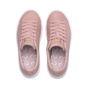 Thumbnail 7 of Suede Platform Shimmer Women's Sneakers, Bridal Rose-Puma White, medium