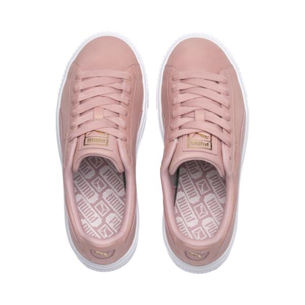 Suede Platform Shimmer Women's Sneakers, Bridal Rose-Puma White, large