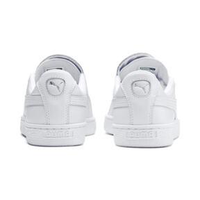 Thumbnail 3 of Basket Crush Emboss Heart Women's Sneakers, Puma White-Puma Silver, medium
