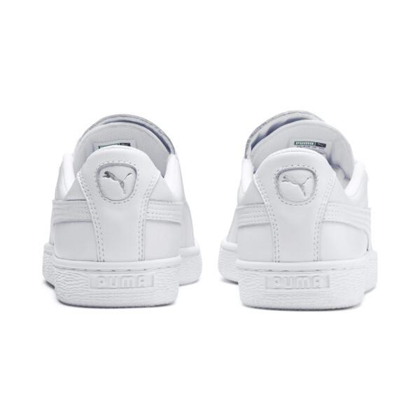 Basket Crush Emboss Heart Women's Sneakers, Puma White-Puma Silver, large