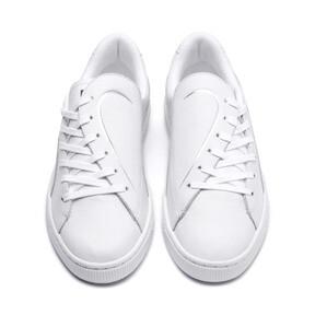 Thumbnail 2 of Basket Crush Emboss Heart Women's Sneakers, Puma White-Puma Silver, medium