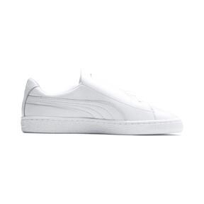 Thumbnail 6 of Basket Crush Emboss Heart Women's Sneakers, Puma White-Puma Silver, medium