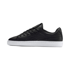 Thumbnail 1 of Basket Crush Emboss Heart Women's Sneakers, Puma Black-Puma Team Gold, medium