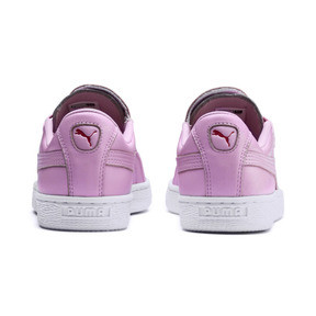 Thumbnail 4 of Basket Crush Emboss Heart Women's Sneakers, Pale Pink-Hibiscus, medium