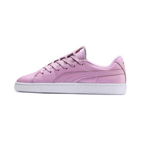 Thumbnail 1 of Basket Crush Emboss Heart Women's Sneakers, Pale Pink-Hibiscus, medium