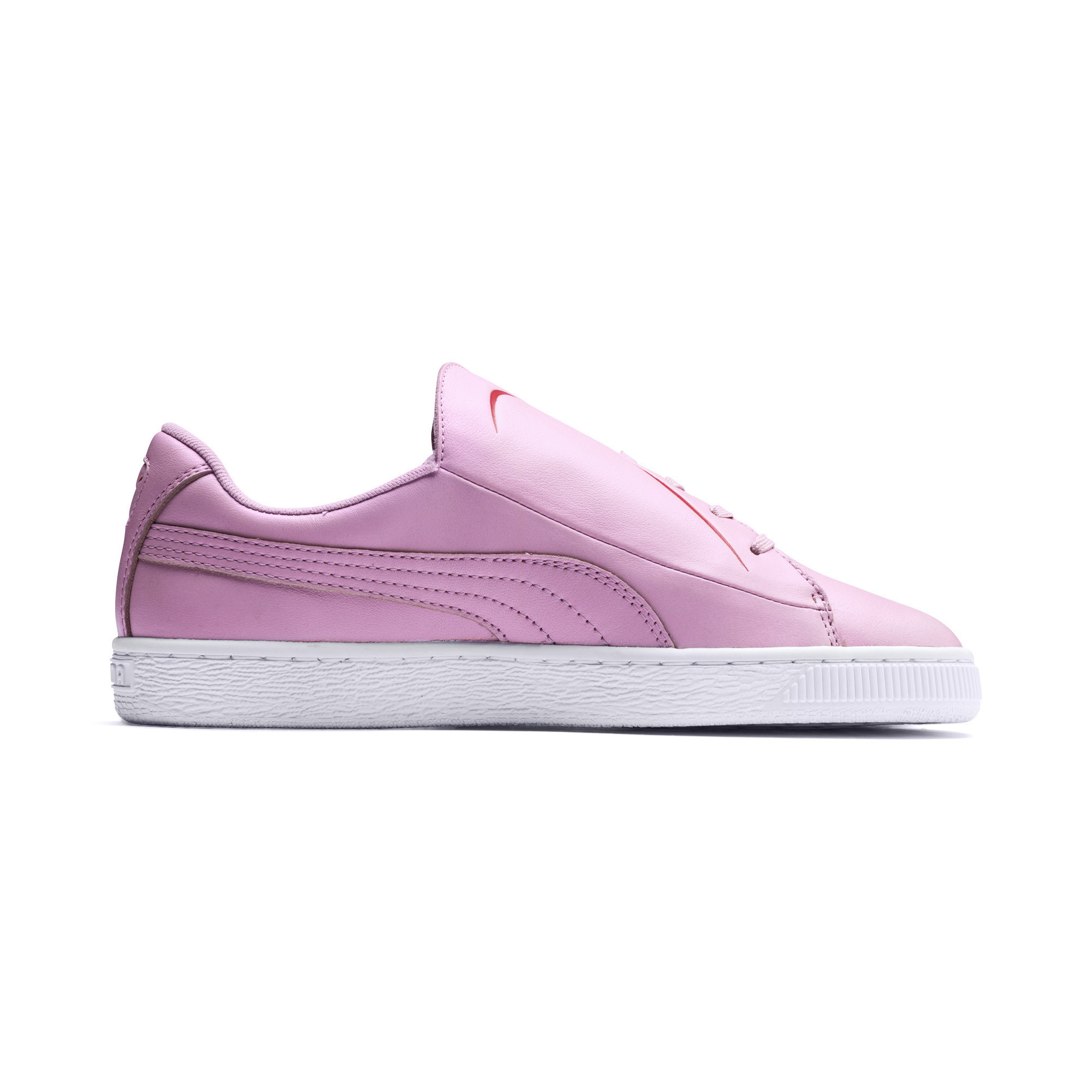 PUMA-Women-039-s-Basket-Crush-Emboss-Heart-Sneakers thumbnail 13