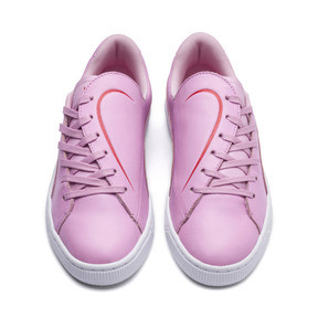 Thumbnail 5 of Basket Crush Emboss Heart Women's Sneakers, Pale Pink-Hibiscus, medium